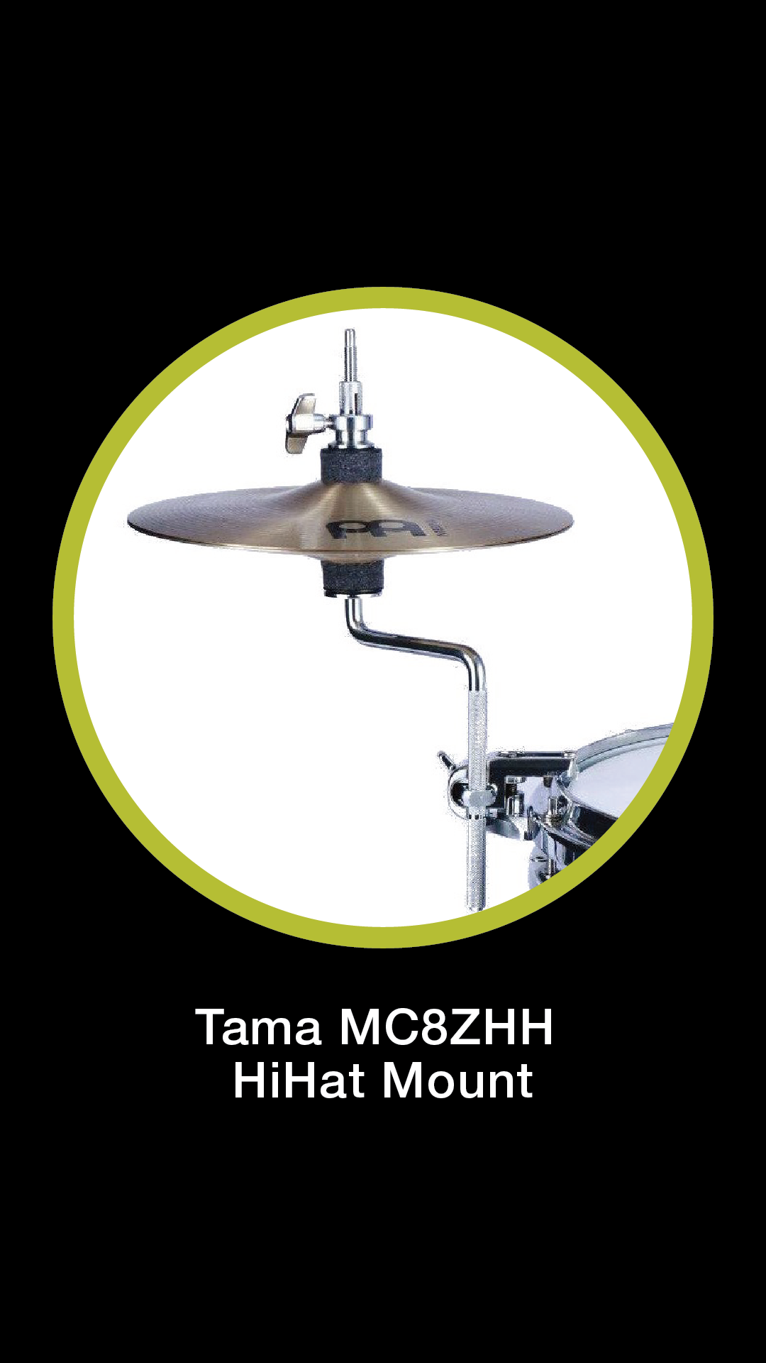 TAMA MC8ZHH MARCHING HI-HAT ATTACHMENT WITH HOOP GRIP